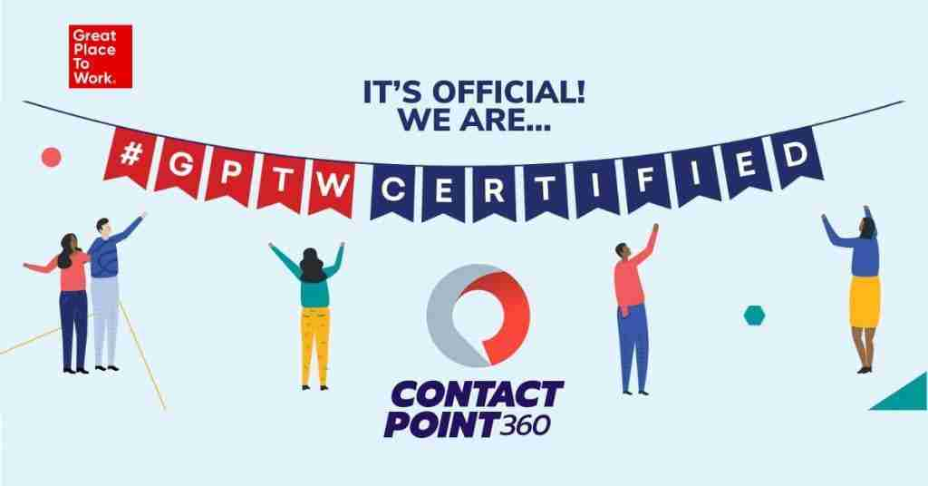 ContactPoint 360 Certified as a Great Place to Work® 2021-2022